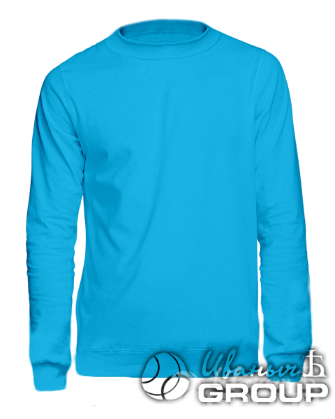 Голубой свитшот мужской