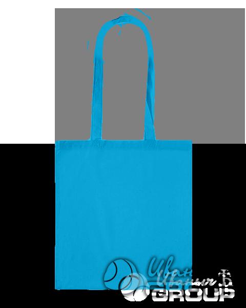 Голубая сумка холщевая
