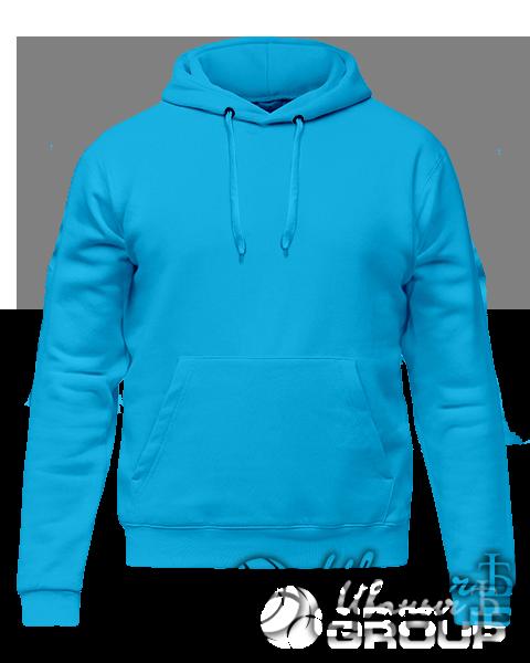 Голубое худи премиум