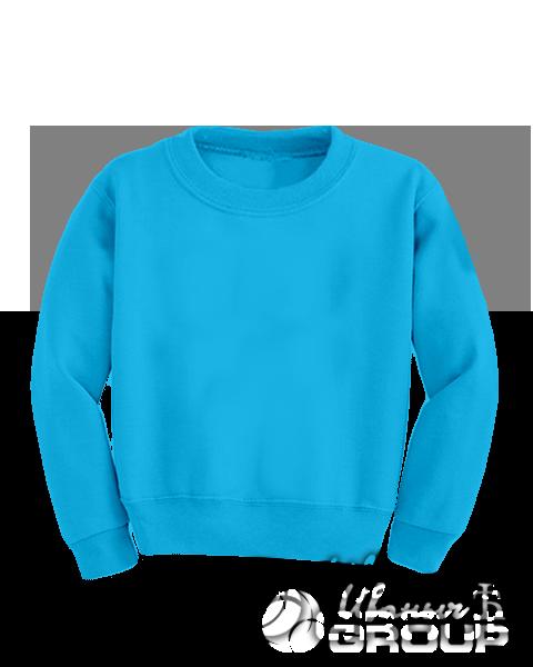 Голубой свитшот детский