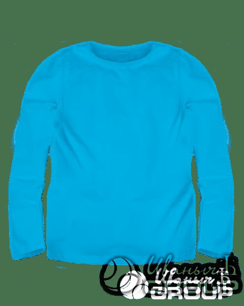 Голубой лонгслив детский