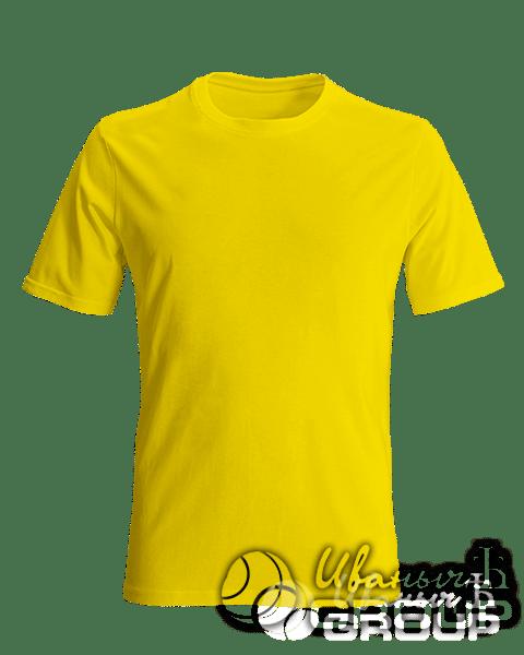 Желтая футболка на заказ