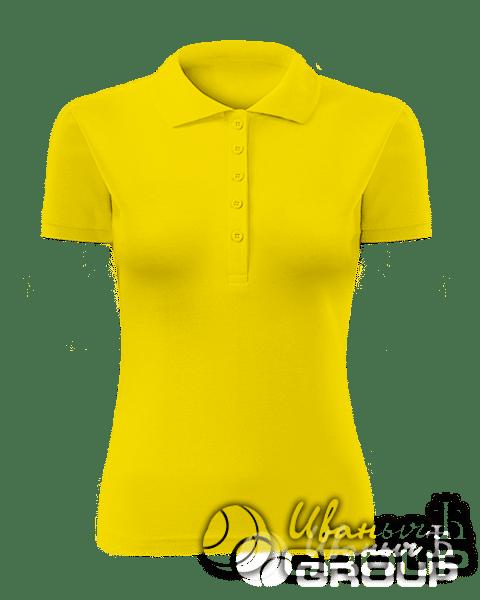 Желтое поло женское