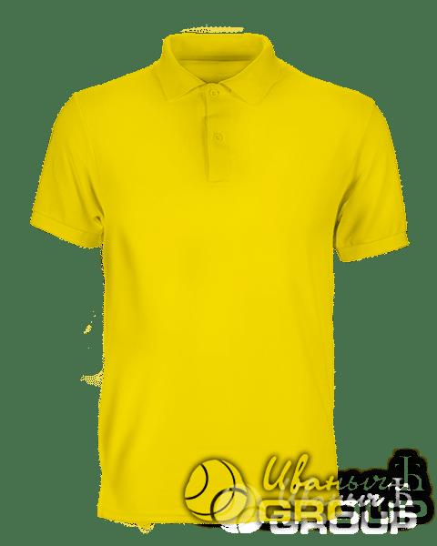 Желтое поло премиум