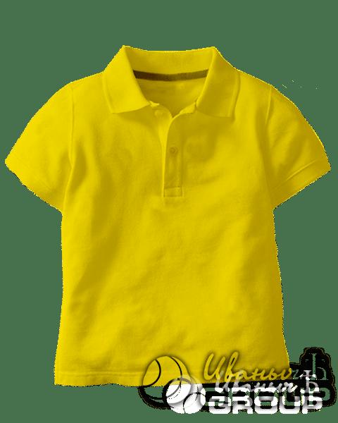Желтое поло детское