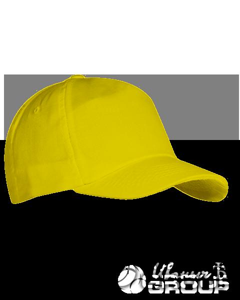 Желтая бейсболка на липучке