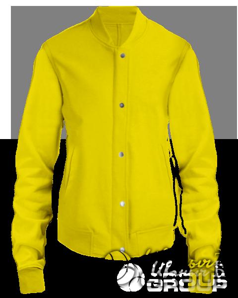 Желтый бомбер женский
