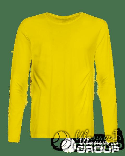 Желтый лонгслив промо
