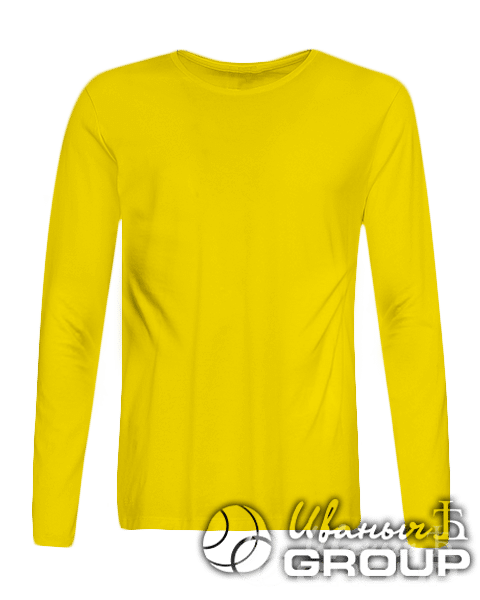 Желтый лонгслив на заказ