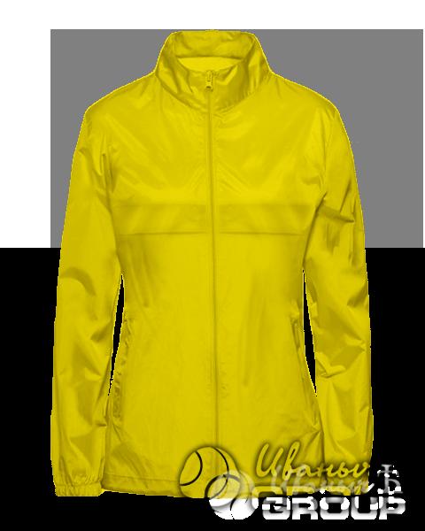 Желтая ветровка женская