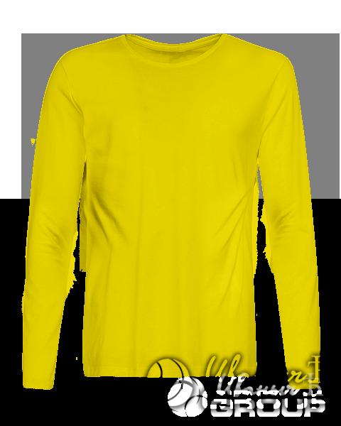 Желтый лонгслив премиум