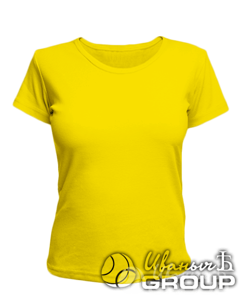Желтая женская футболка
