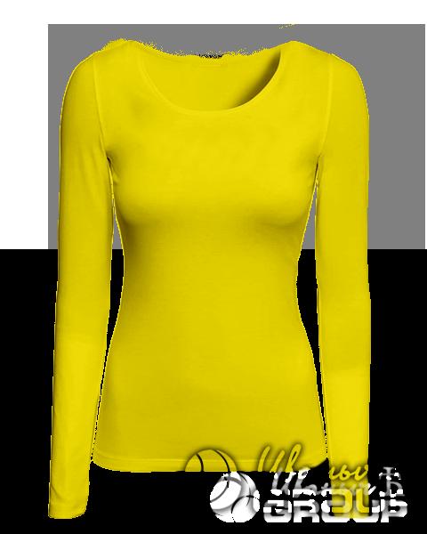 Желтый лонгслив женский