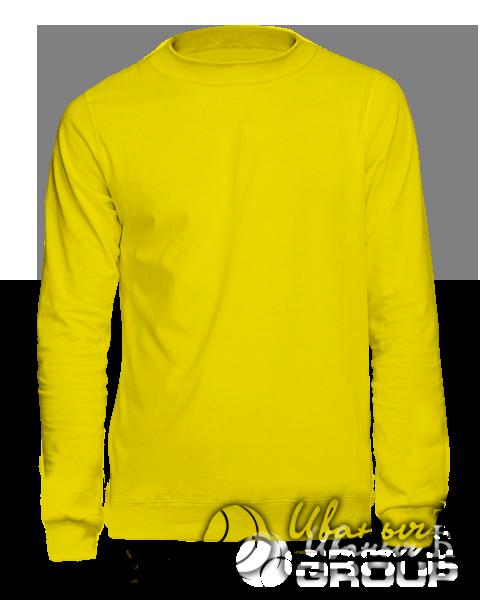 Желтый свитшот мужской