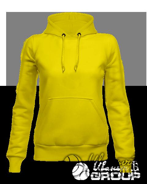 Желтое худи женское