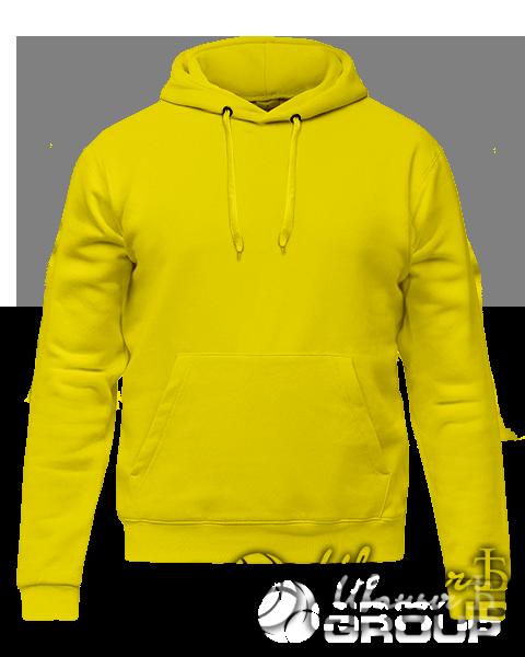 Желтое худи премиум