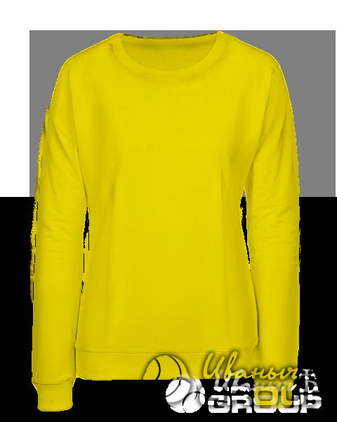 Желтый свитшот женский