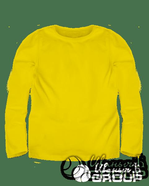 Желтый лонгслив детский