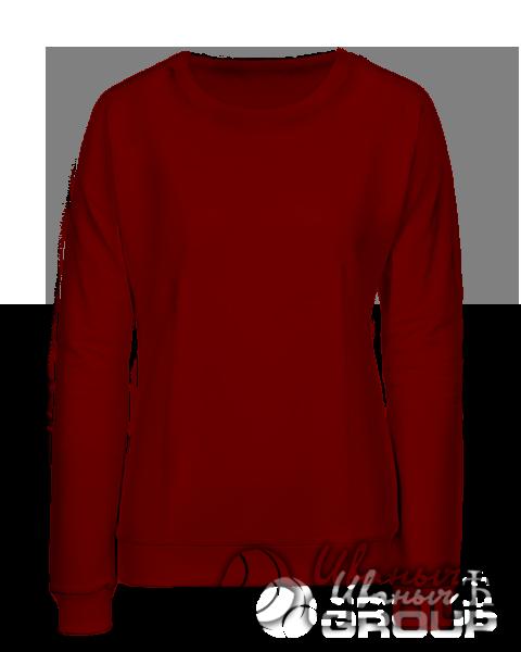 Бордовый свитшот женский