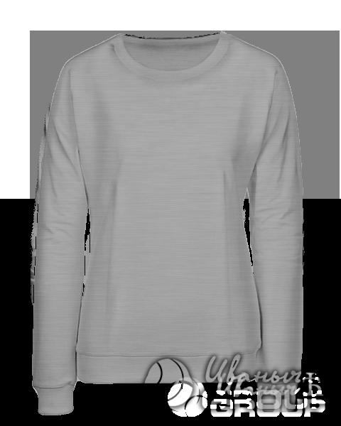 Серый-меланж свитшот женский