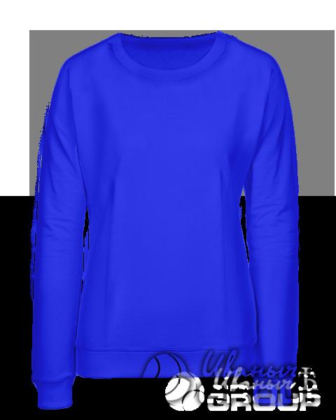 Синий свитшот женский
