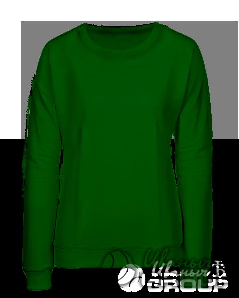 Темно-зеленый свитшот женский