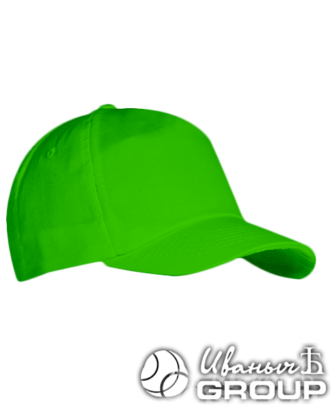 Зеленая бейсболка на липучке