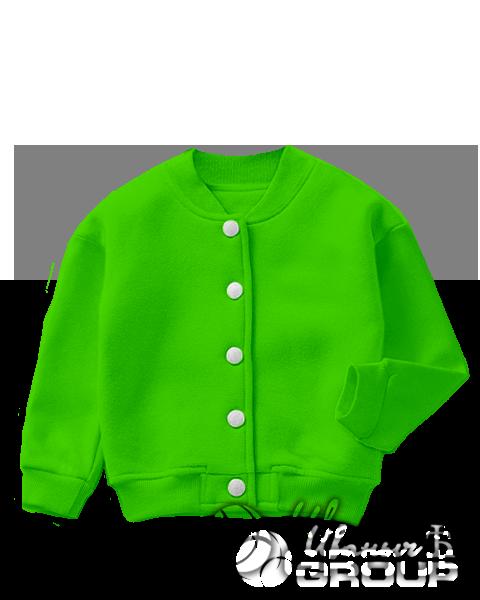 Зеленый бомбер детский