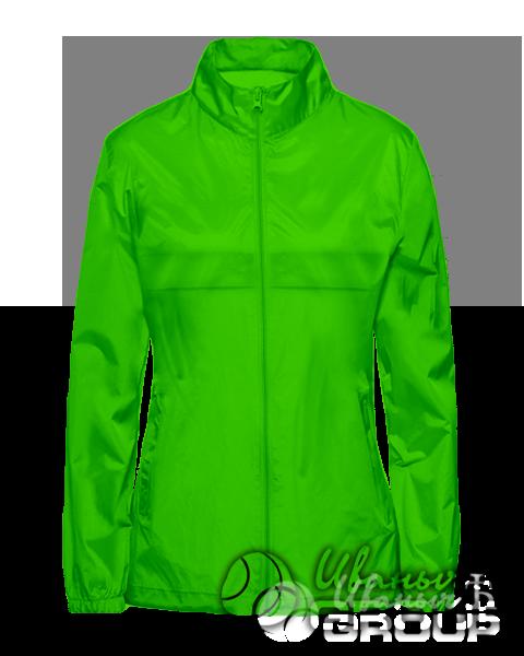 Зеленая ветровка женская