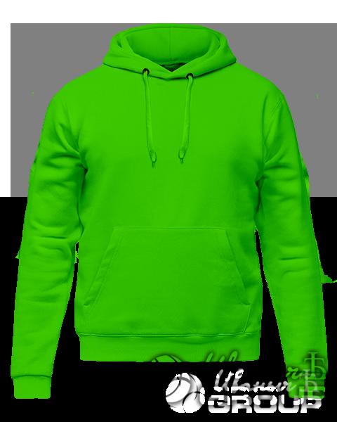 Зеленое промо худи