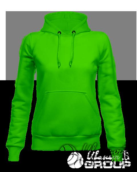 Зеленое женское худи