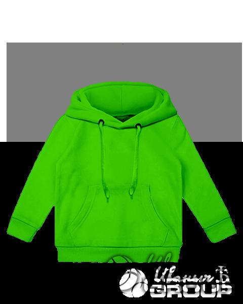 Зеленое детское худи