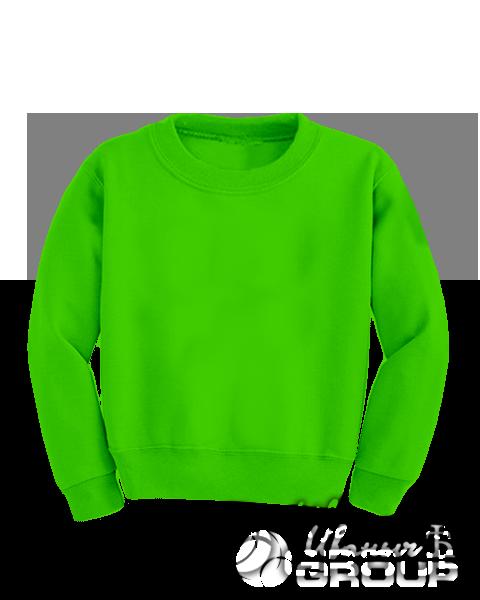 Зеленый свитшот детский