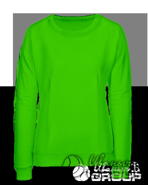 Зеленый свитшот женский
