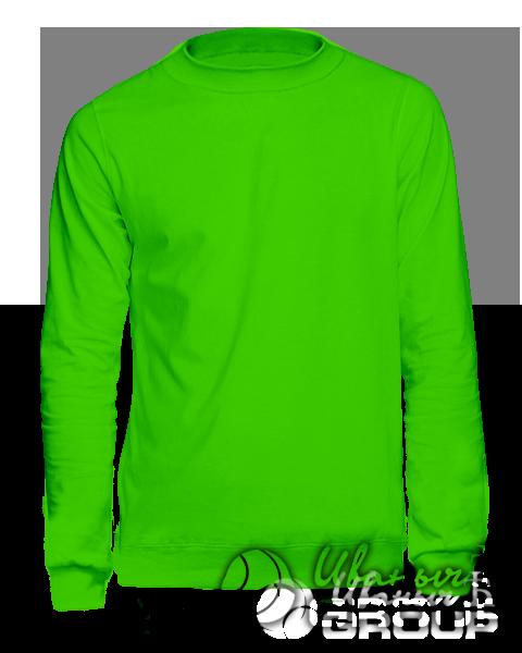 Зеленый свитшот на заказ