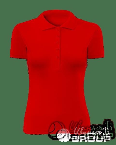 Красное поло женское