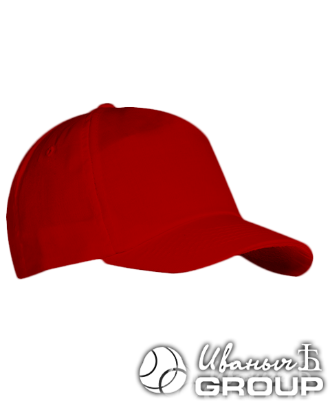 Красная бейсболка на липучке