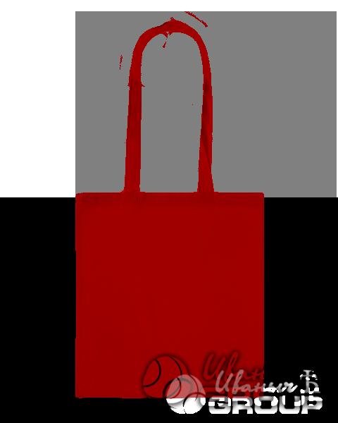 Красная сумка холщевая