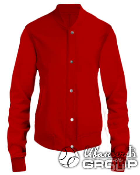Красный бомбер женский