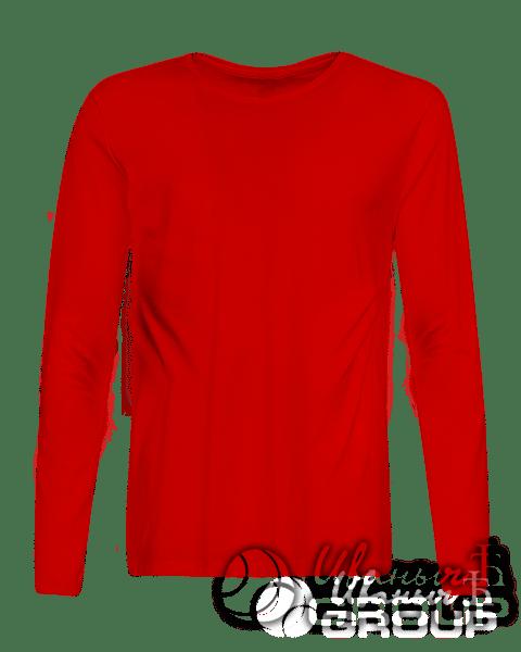 Красный лонгслив на заказ