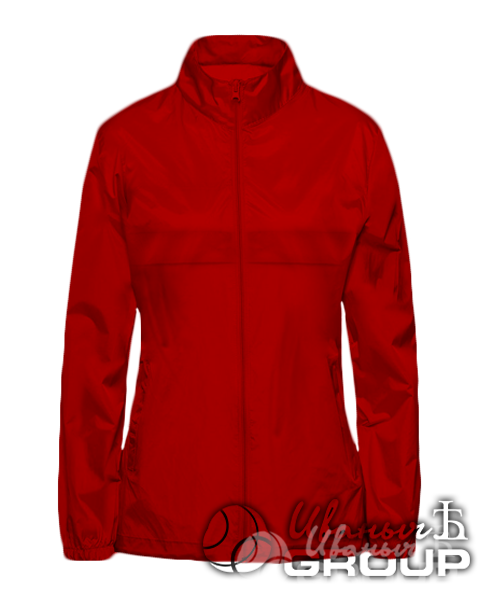 Красная ветровка женская
