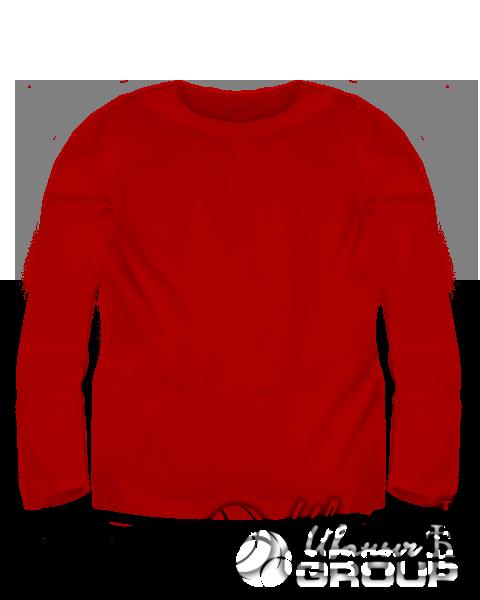 Красный лонгслив детский
