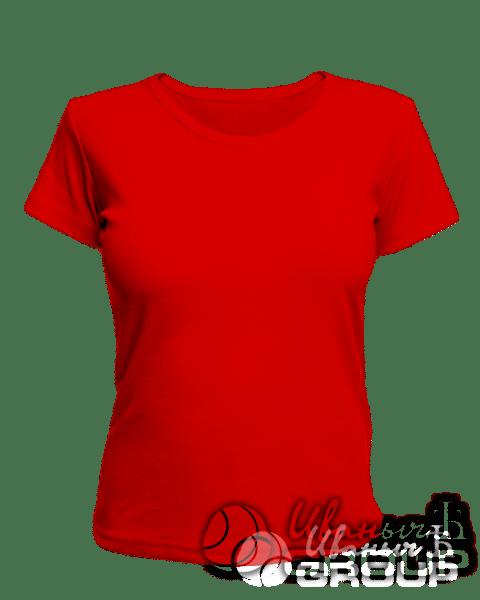 Красная женская футболка для беременных