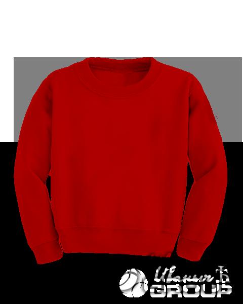 Красный свитшот детский
