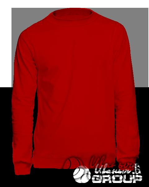 Красный свитшот премиум