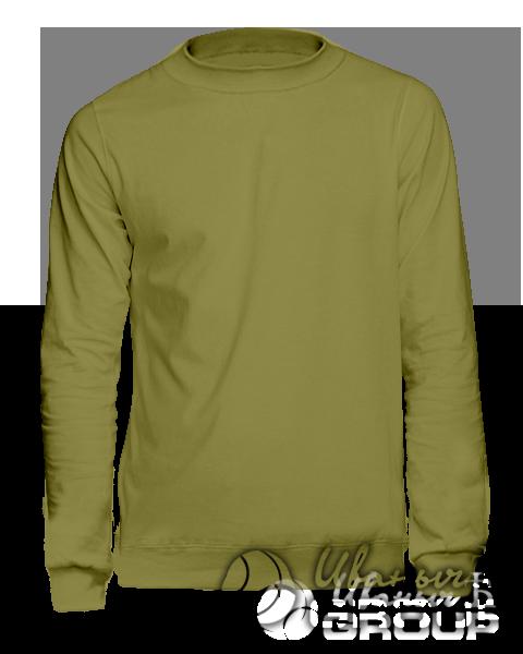 Оливковый свитшот мужской