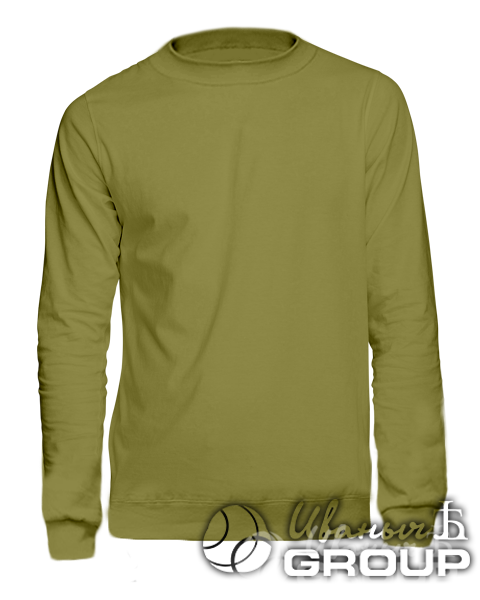 Оливковый свитшот на заказ
