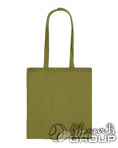 Оливковая сумка холщовая