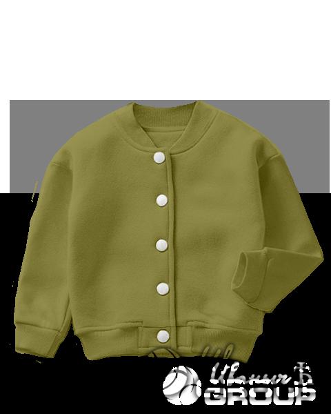 Оливковый бомбер детский