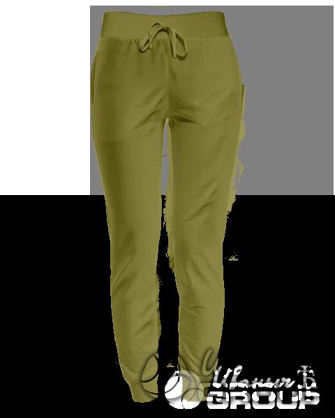 Оливковые штаны женские